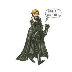 Darth Vader & Son » Design You Trust – Design and Beyond! #luke #wars #vader #skywalker #ilustration #star #darth