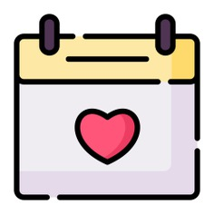 See more icon inspiration related to calendar, time and date, love and romance, anniversary, date and love on Flaticon.