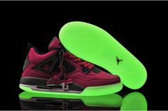 Nike Jordan 4(IV) Glow In The Dark Pink Foil Women Design #shoes
