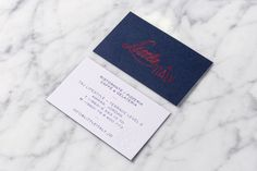 Little Italy Business Cards — Here Design