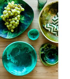 Blue Green Pottery