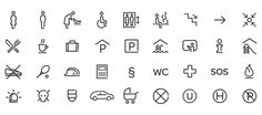 JUFA, Interieur, Branding, Design, Branding in Space, Branded Environment, Interior Design, Rebranding, En Garde Lendplatz 40, Graz, Stiftga #iconset #icon #wayfinding #icondesign #symbol #signage