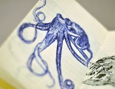 Sketches - Moleskine research - graphicwand #graphicwand #note #book #octopus #illustration #moleskine #sketches #drawing