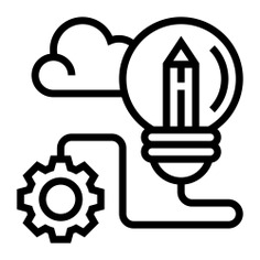 See more icon inspiration related to idea, cloud, lightbulb, pen, gear, solution, thinking, creative, pencil, marketing and light on Flaticon.