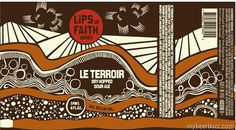 New-Belgium-Lips-LeTerrior.jpg 426×236 pixels #beer #label #belgium #brown #drawn #hand #new