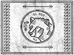 Dribbble - El Oso by Curtis Jinkins #curtis #logo #bear #jinkins