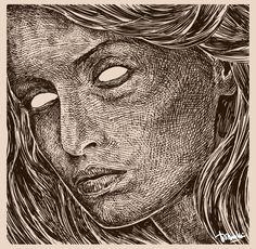 Blind #woman #girl #blind #face #art #design #barmalisiRTB