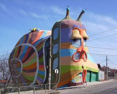 Snail house - 30+ Unique and Interesting Buildings in The World #building #house #snail