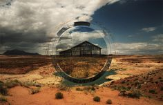 Work by Eric Bryant - Last Days #circle #focus #wilderness #hot #photography #cabin #graphics #desert