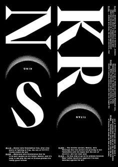corbinmahieu: KRCNCS - Wanted to check out the new fontEVROPA Regular of Studio Jimbo — 2014 #serif #typography