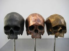 Colossal | art + design #sculpture #skulls #art