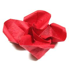 How to make a pretty origami rose paper flower (http://www.origami-flower.org/howto-origami-rose.php) #origami #rose #origamirose