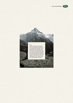 Land Rover: Mountain | Ads of the World™ #automotive #print #land #advertising #rover #mountains