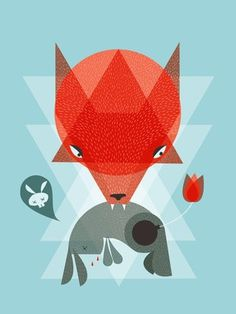 FFFFOUND! | Peter's Last Prank Art Print by Sarajea | Society6 #shapes #illustration #animal