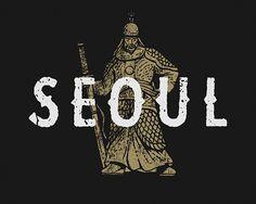 Korean warrior illustration by Jon Contino for Nike We Runsouth korea