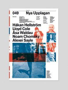 Nya Upplagan | Swiss Legacy #helvetica #grid #modernism #duotone