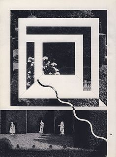 Louis Reith #geometric #black and white #collage #era