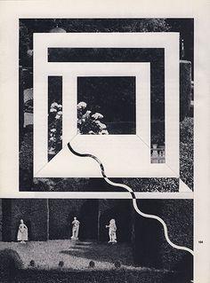 Louis Reith #geometric #black and white #collage #era