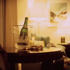 ••• Here with you | Flickr - Photo Sharing! #glass #photography #film #champagne #table