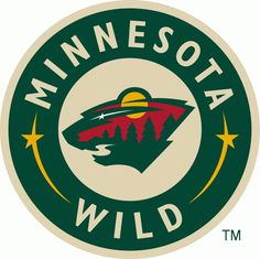 Minnesota Wild Jersey Logo (2004) The head of a black bear created using Minnesota area scenery, green pine trees, a wheat coloured river, #
