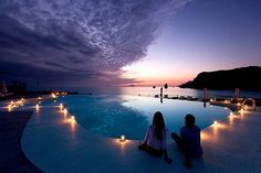 rhys #candles #sky #travel #romance #pool #architecture #swimming