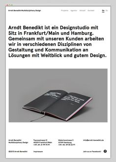 Arndt Benedikt #website #layout #design #web