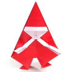 How to make a simple origami Santa Claus (http://www.origami-make.org/howto-origami-christmas.php)