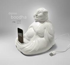 BOODHA by Diploo ˘•˘ #diploo #sculpture #white #design #original #ceramic #funny