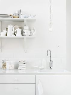 If on a winter's morning #interior #white #spaces #design #kitchen