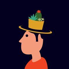 Succulent sombrero #illustration #nerdski #succulent