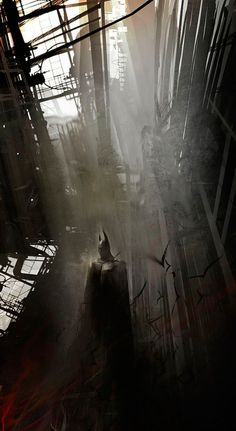 SciFi Fantasy Horror #bats #dc #knight #batman #illustration #painting #comics #dark