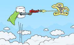 Illustrations   Cameron McNab #marshmallow #gun #ray #illustration #zap #mcnab #cameron