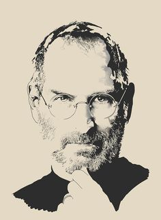 Portraits on the Behance Network #steve #apple #jobs #black