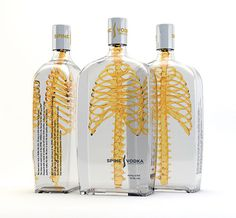 Spine Vodka: Awesome Concept by Johannes Schulz | Inspiration Grid | Design Inspiration #spine #skeleton #bottle #design #voka #product