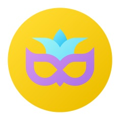 See more icon inspiration related to theater, mask, birthday and party, carnival, costume, fun, entertainment, comedy, fashion and party on Flaticon.