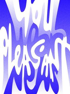 Typeverything.com 'You Hear Pleasant News' by... - Typeverything #type #psychedelic #typography