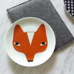 http://followgram.me/bloesemblogs #plate #fox #design #glass #illustration