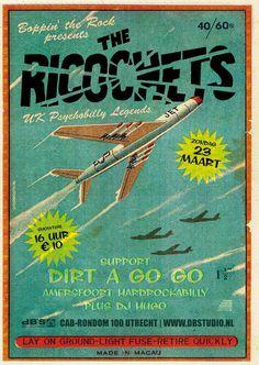 RAWZ #aeroplane #design #plane #vintage #poster #ricochet #boeing #typography