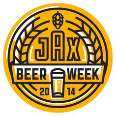Jacksonville Beer Week Logo #beer #yellow #black #logo
