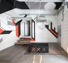 An Office Transformed With Just 3,000 Feet Of Tape On The Walls | Co.Design: business + innovation + design #tape #architects #late #wall #drawing