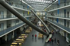 Giant slide in Technical University of Munich | buZzhunt.co.uk #school #germany #education #architecture #slide #epic