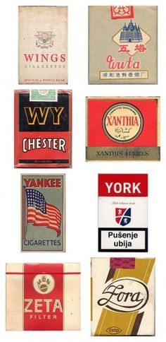 Amazing vintage cigarette pack designs from around the world
