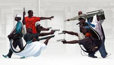 Illustration 2010 : michal lisowski #blackmen #illustration #guns #art #music