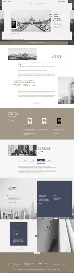 Papapolitis Website by Kommigraphics #Web Design #Website #Corporate Design #Corporate Website #Corporate Image #UX #UI #Content Management