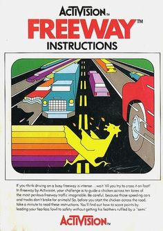 Atari - Freeway | Flickr - Photo Sharing! #video #booklet #games #manual