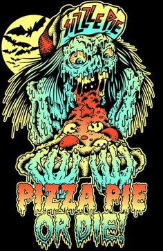 TALLBOY, T shirt design for SIZZLE PIE in the awesome city... #ink #swamp #pen #and #wizards