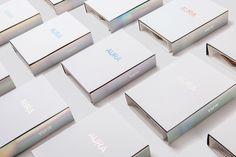 Aura #holographic #branding #packaging #foil #brochure