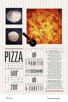 07 | Pizza by no zone, via Flickr #cooking #2013 #calendar #design #food #illustration #photography #calendars