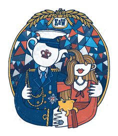 Royal wedding. Illustration by Allan Deas www.allandeas.com