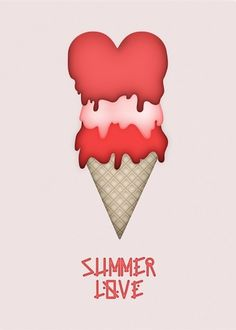 Summer love → Bertrand Bruandet — Art direction & Photography #cream #design #graphic #illustration #summer #ice #coral #love